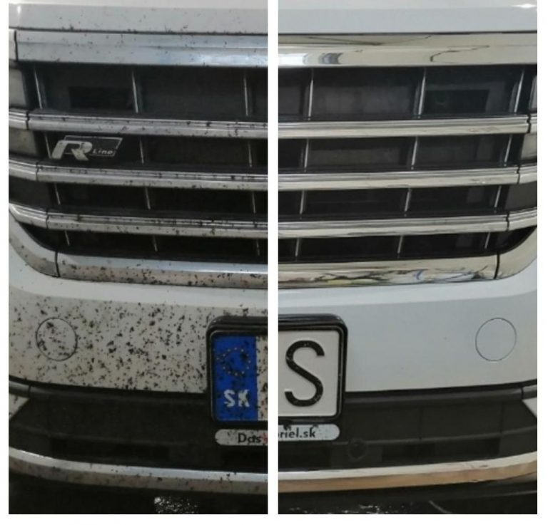 Ako odstrániť hmyz zpovrchu auta?